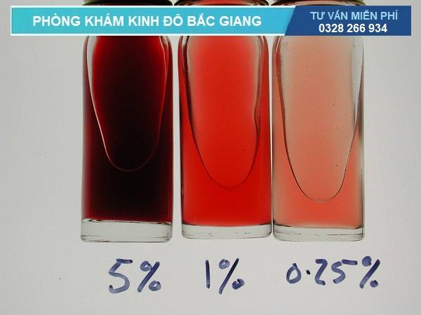 Các mức độ khác nhau của tiểu ra máu