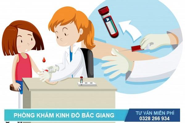 Lấy máu xét nghiệm bệnh xã hội